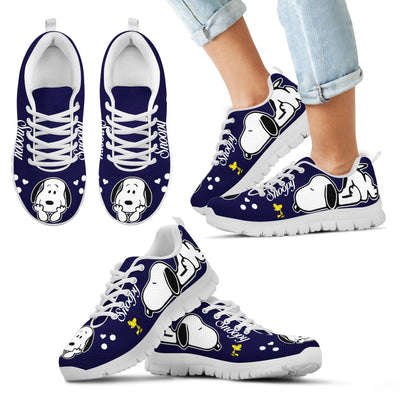 Snoopy Cute Navy Sneakers