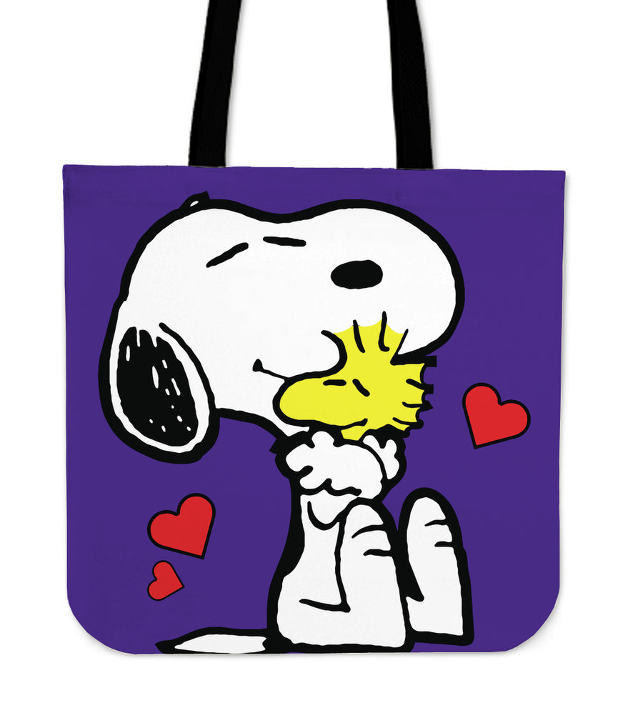 Snoopy And Woodstock Tote Bag - Purple