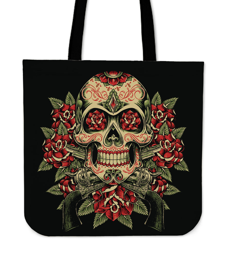 Skull And Roses - Tote Bag