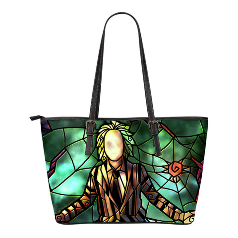 Beetle Juice Stained Glass Tote Bag