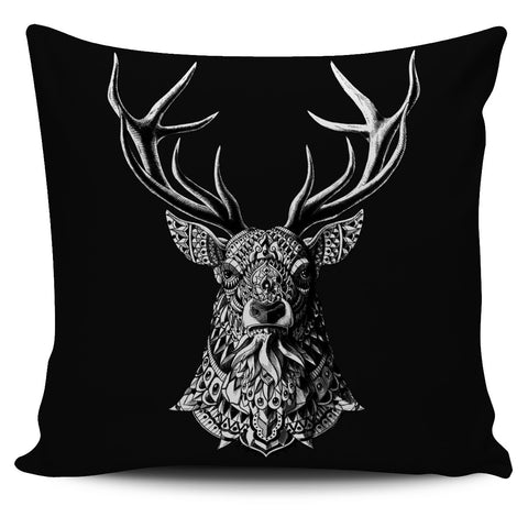 BUCK ORNATE ANIMAL PILLOW COVER
