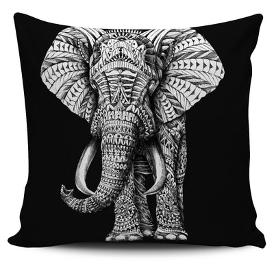 ELEPHANT ORNATE ANIMAL PILLOW COVER