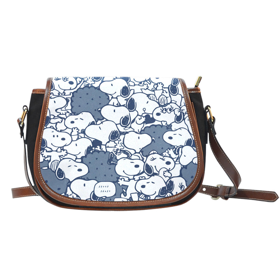 Snoopy Saddle Bag - Navy