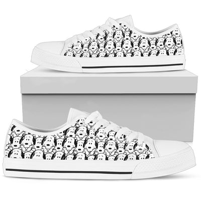 Snoopy Pattern - Low Tops
