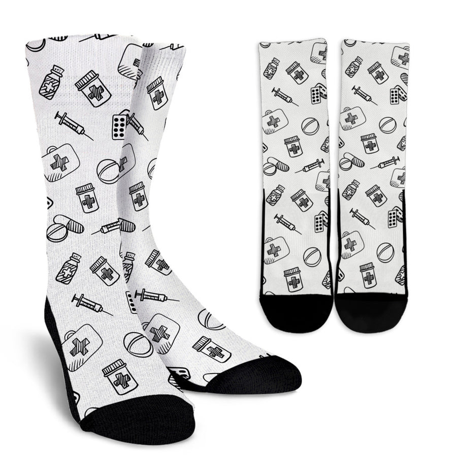 Nurse Socks - White