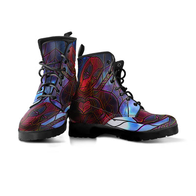 Stained Glass Deadpool Boots