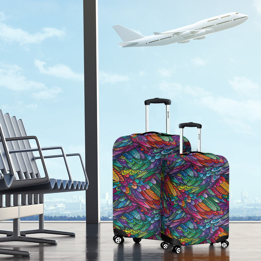 Boho Feathers - Luggage Covers