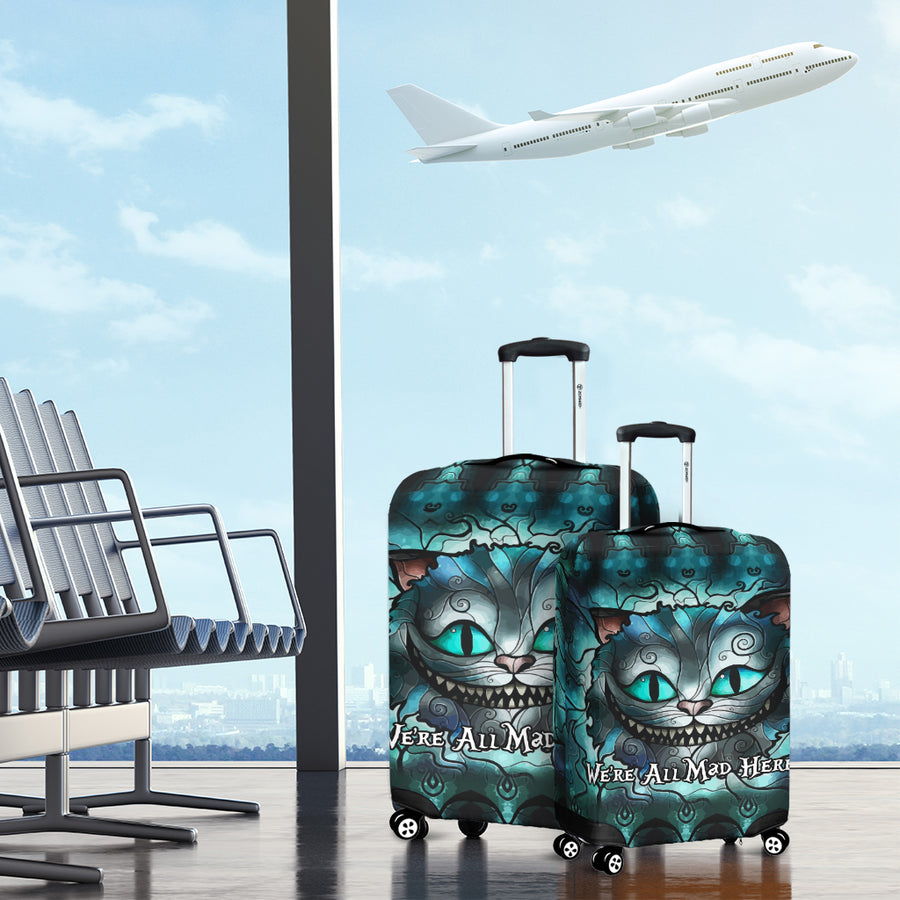 We're All Mad Here - Luggage Covers