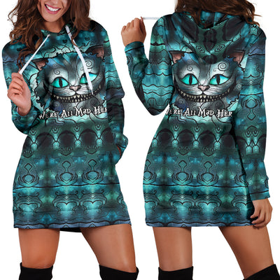 We're All Mad Here - Hoodie Dress