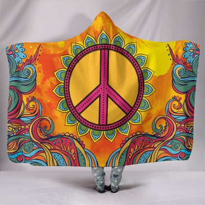Hippie Peace - Hooded Blanket