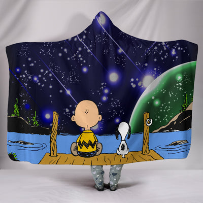Snoopy and Peanut - Hooded Blanket