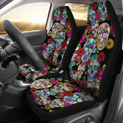 Sugar Skulls Car Seat Covers - (Set of 2)