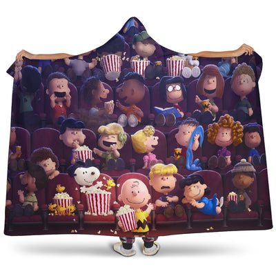 Snoopy Theater Hooded Blanket
