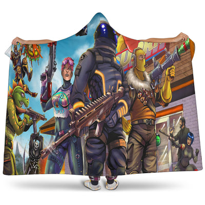 Fortnite Raptor - Hooded Blanket