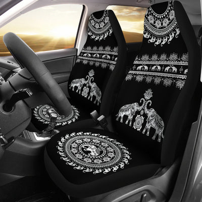 Elephant Mandala - Car Seat Cover