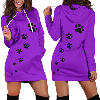 Black Dog Paws Hoodie - Dress