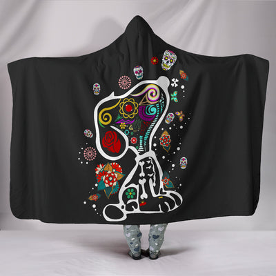 Colourful Snoopy - Hooded Blanket
