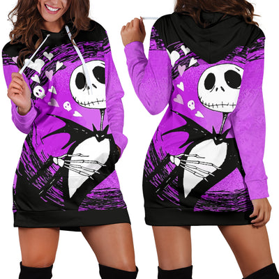 Jack Skellington Purple - Hoodie Dress