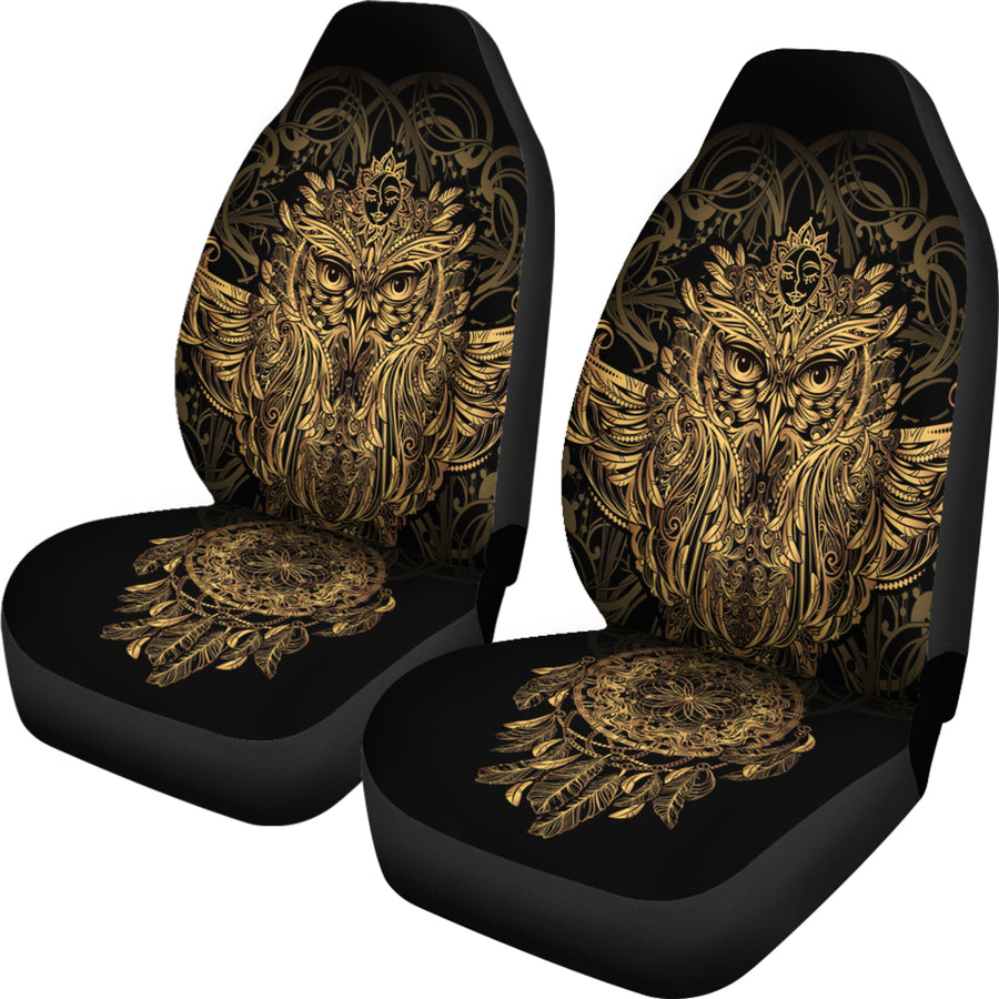 Golden Owl Car Seat Cover (Set of 2)
