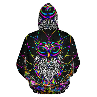 Colourful Owl - Hoodie