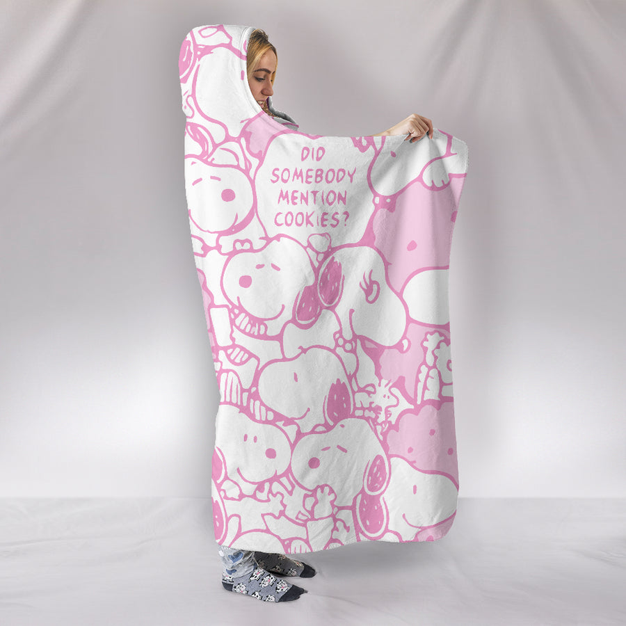 Snoopy Hooded Blanket - Pink