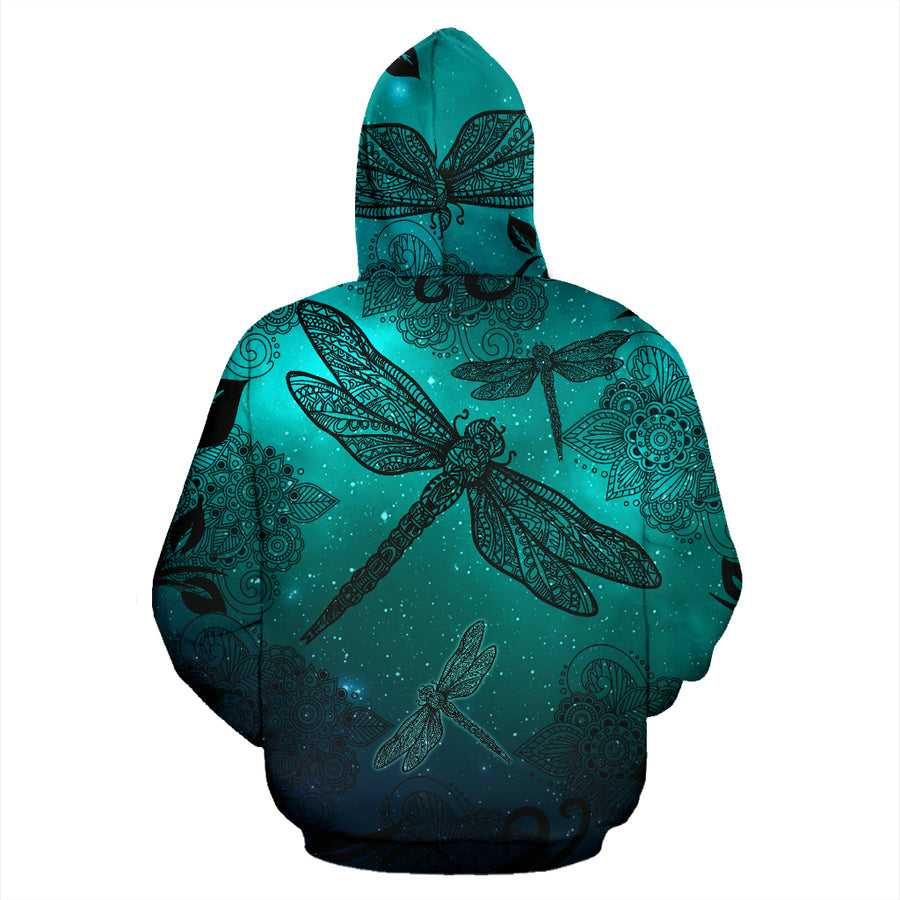 Magic Dragonflies Green Hoodie