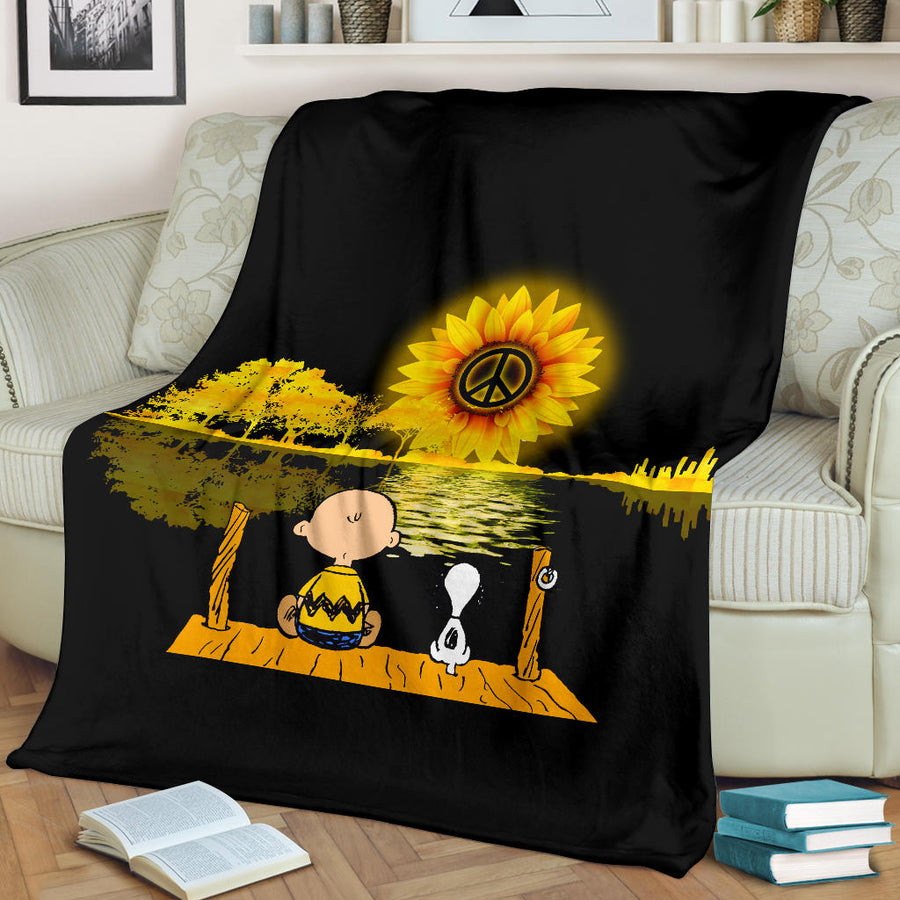 Peaceful Snoopy - Premium Blanket