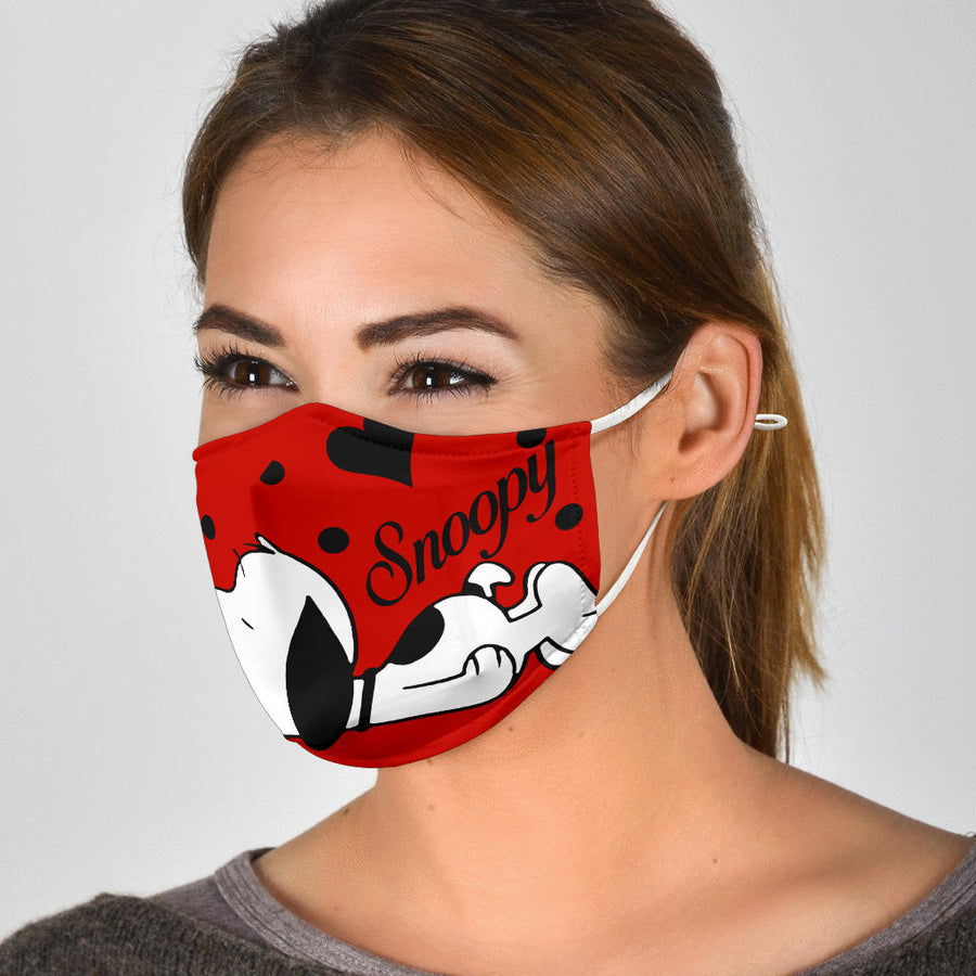 Snoopy Cute Red Face Mask
