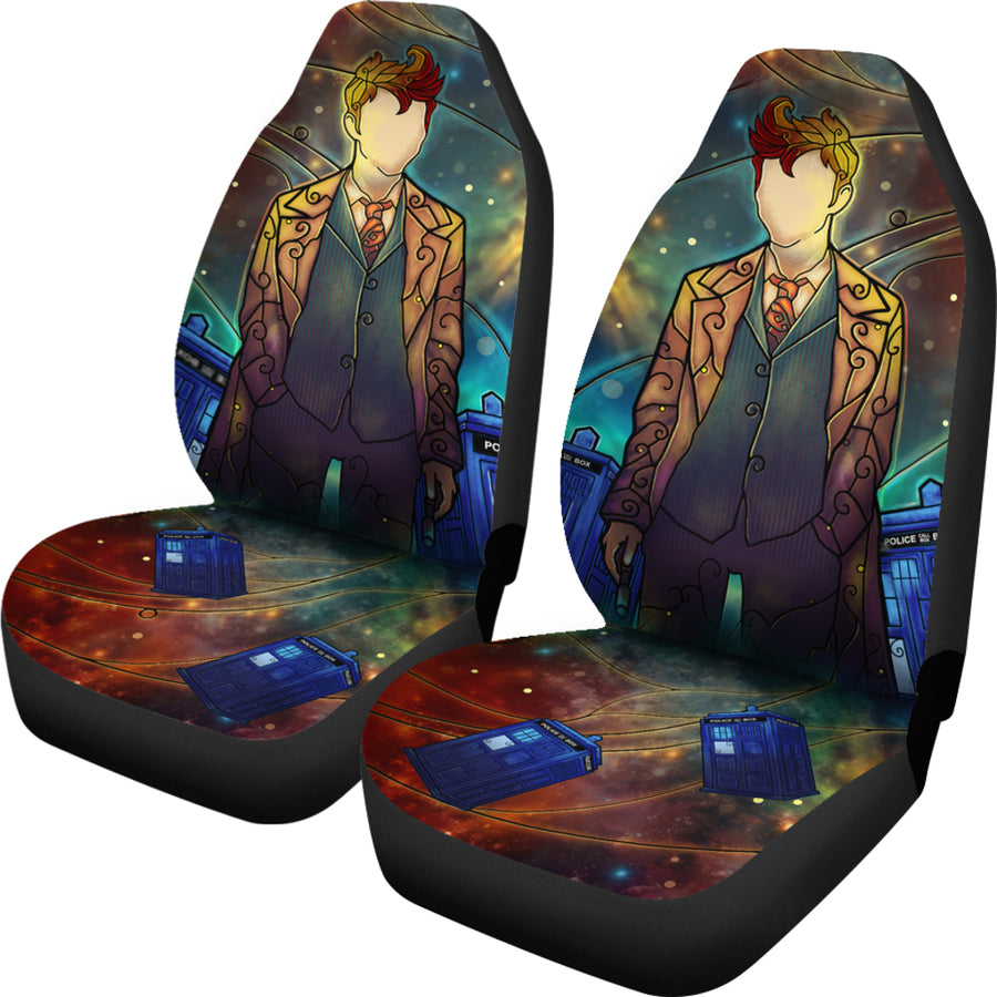 Stained Glass Dr Who - Car Seat Covers - (Set of 2)