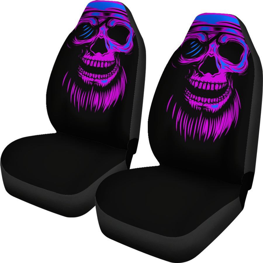 Purple Skull - Car Seat Covers