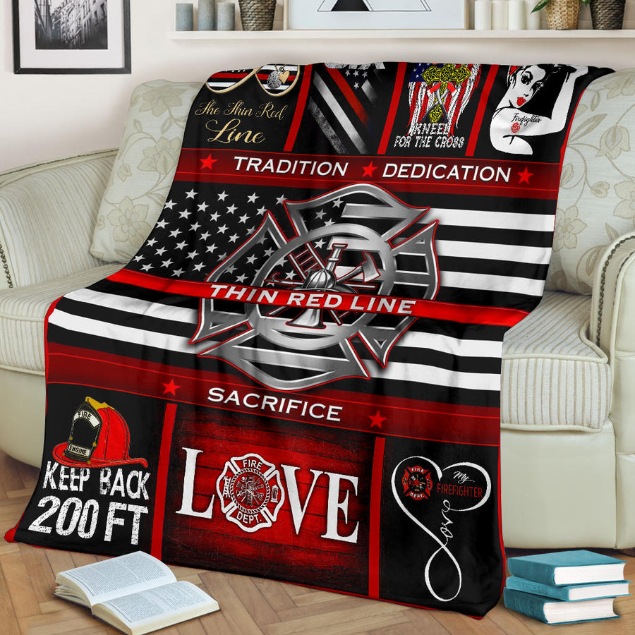 Thin Red Line - Premium Blanket