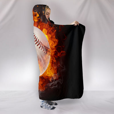 Baseball - Hooded Blanket