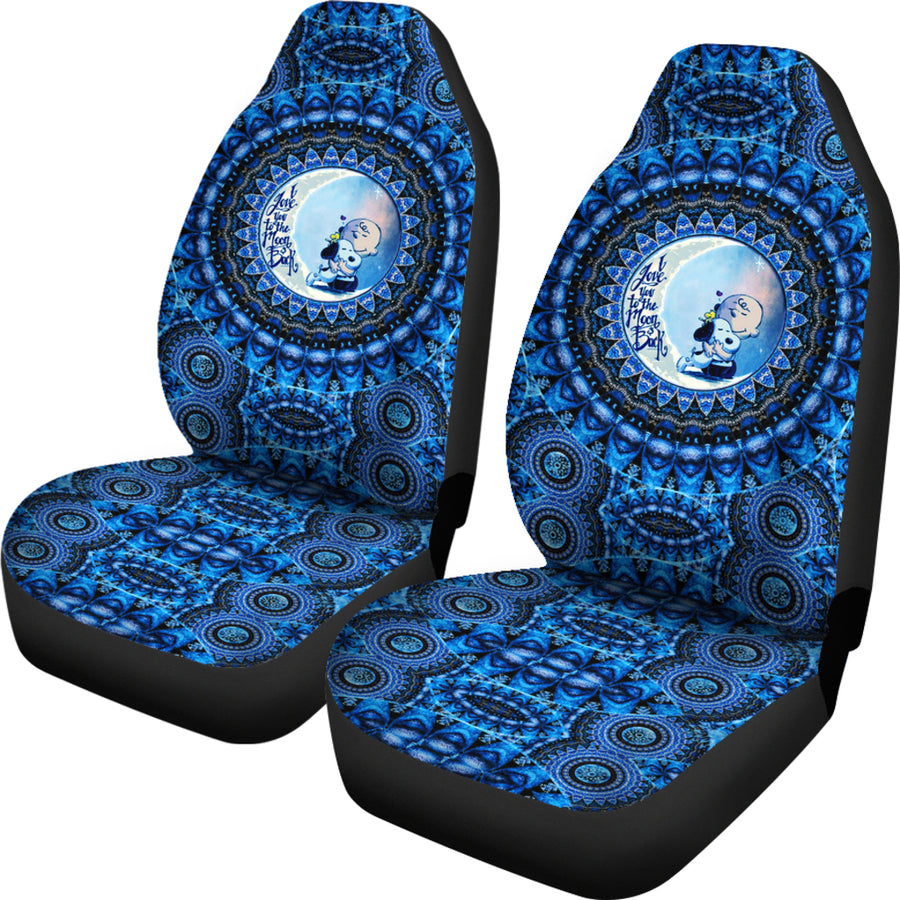 Mandala Love Snoopy - Car Seat Covers (Set of 2)