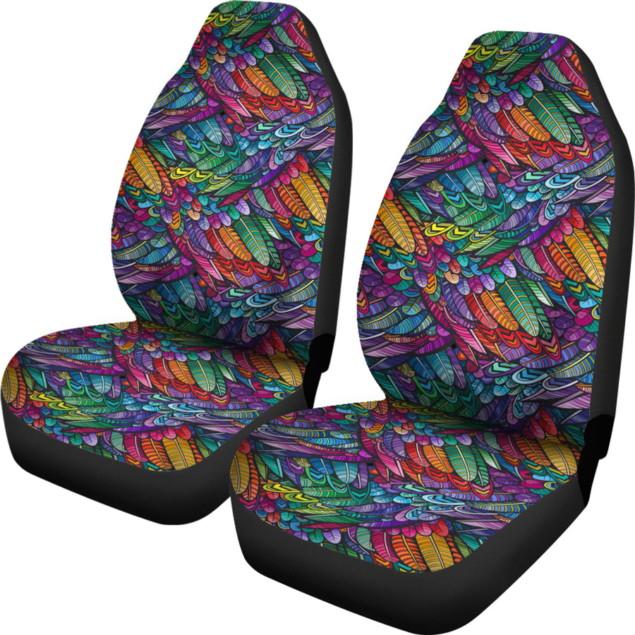 Boho Feathers - Car Seat Covers