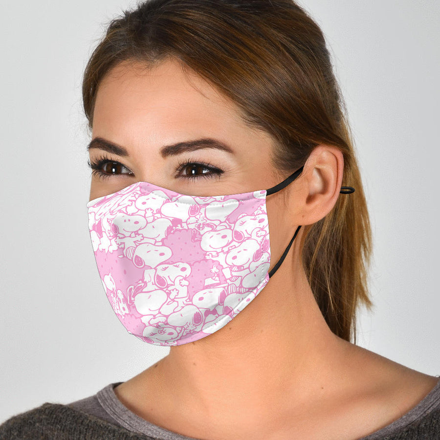 Snoopy Face Mask - Pink