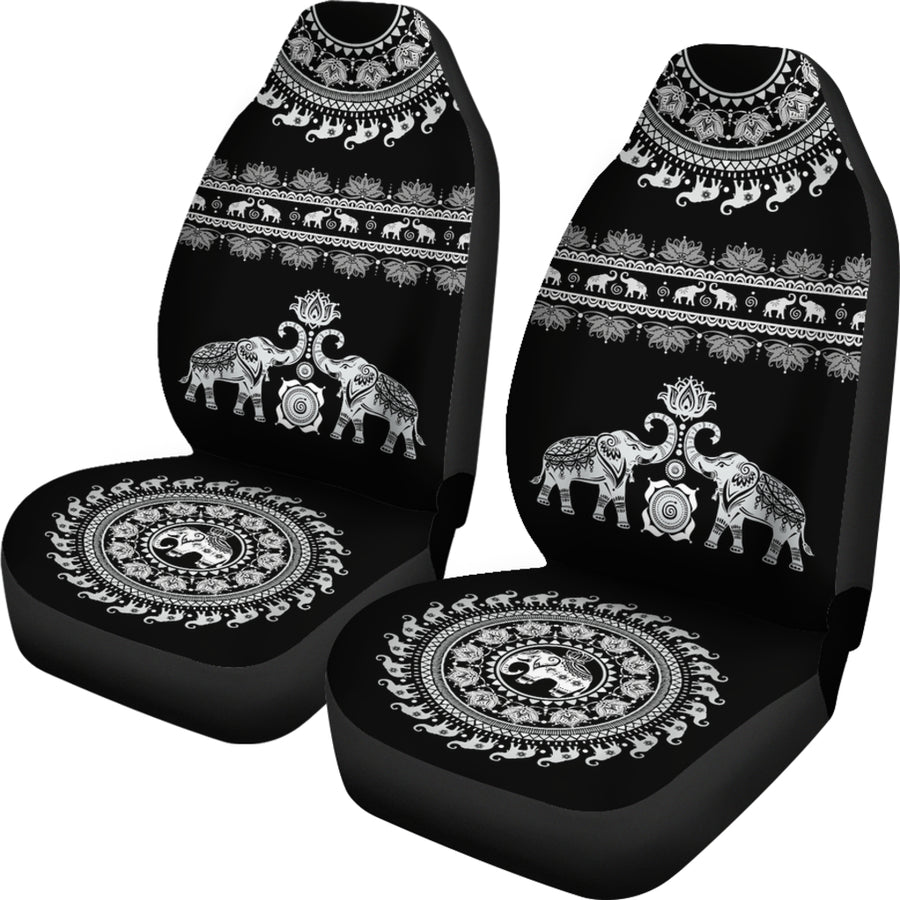 Elephant Mandala - Car Seat Cover  (Set of 2)