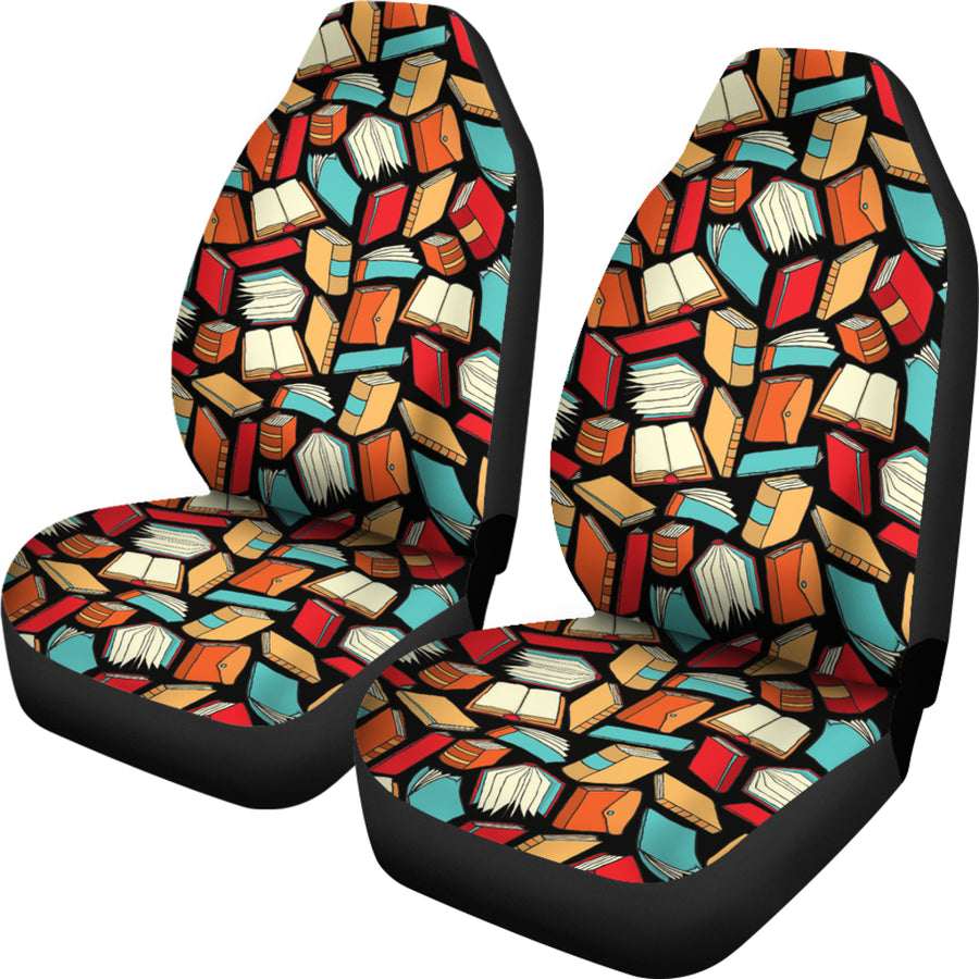 Book Lovers Pattern -  Car Seat Covers (Set of 2)