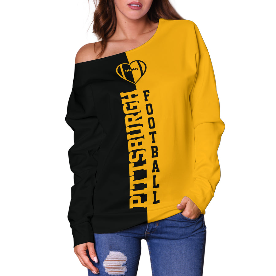 Pittsburgh - Off Shoulder Sweater