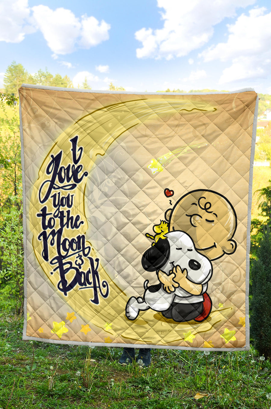 Love Snoopy to the Moon and Back - Premium Quilt