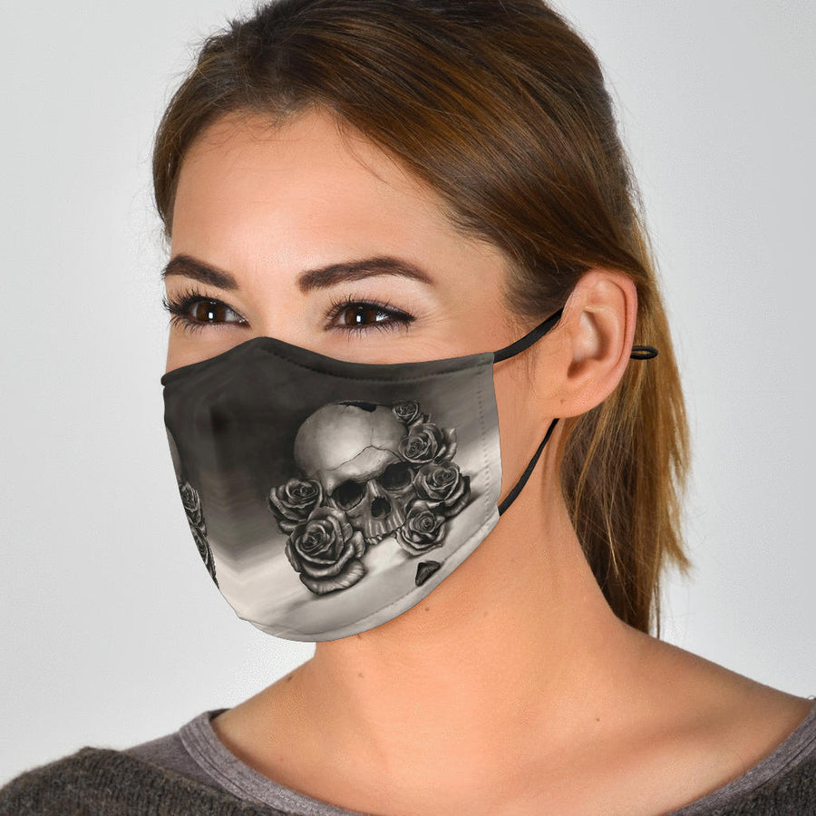 Skull And Rose - Face Mask