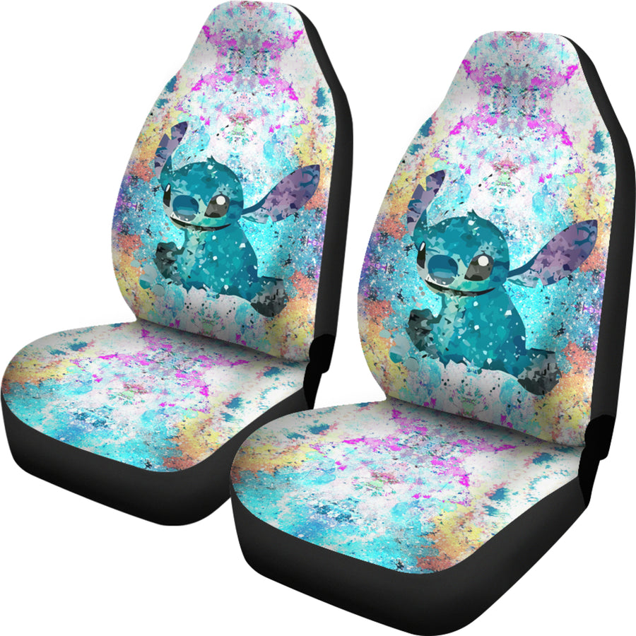 Lilo and Stitch Watercolor - Car Seat Covers