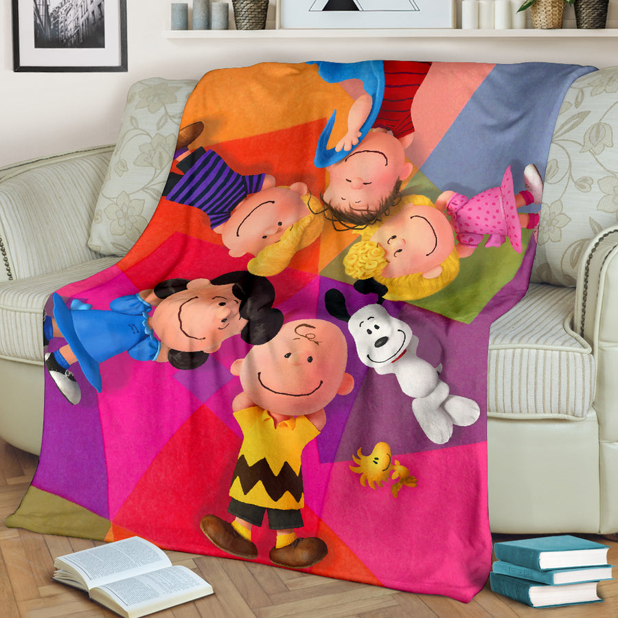 Snoopy Family - Premium Blanket