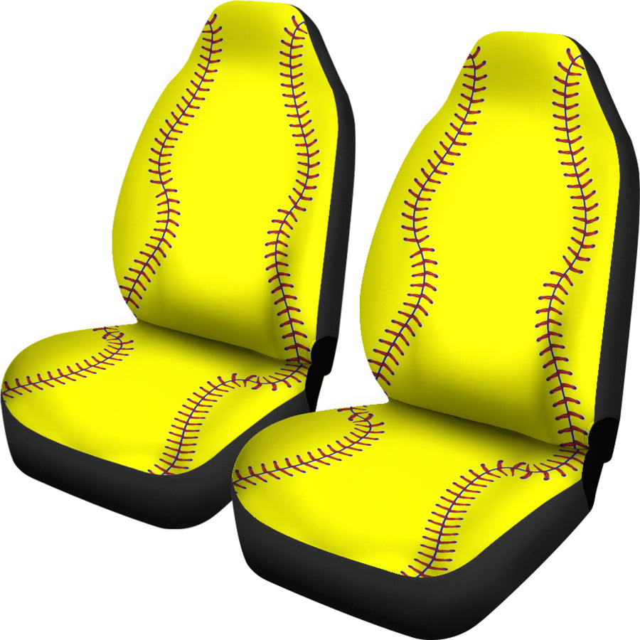 Softball - Car Seat Covers - (Set of 2)
