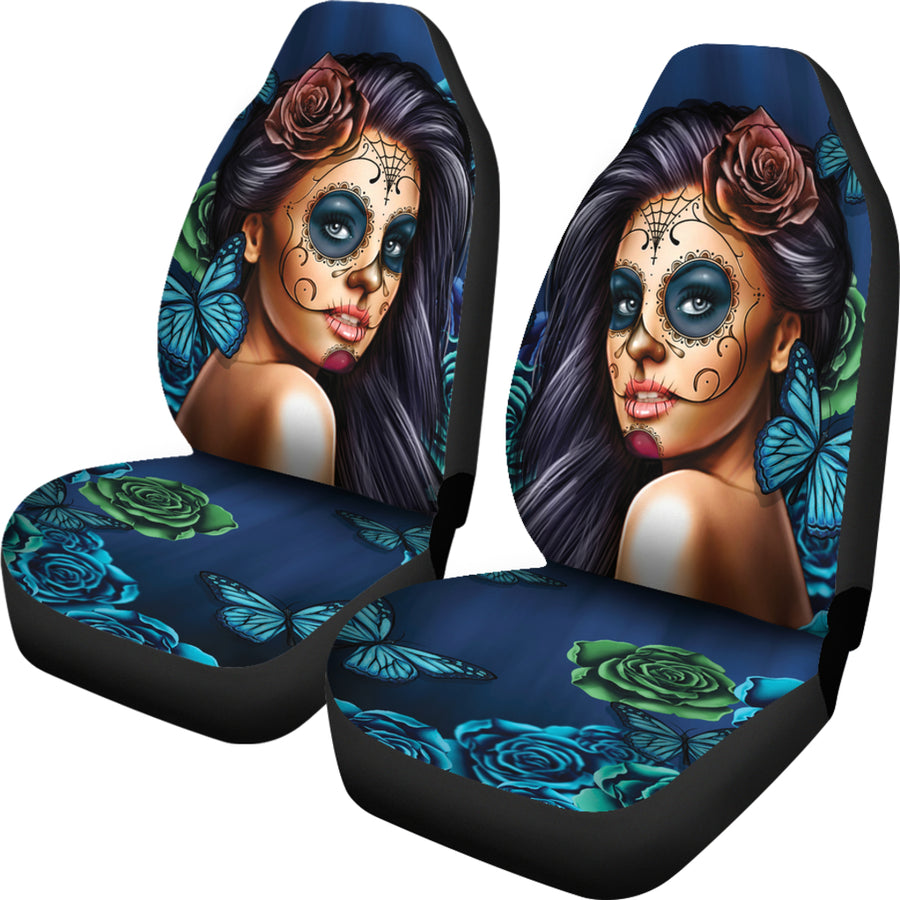 Calavera Blue Car Seat Covers (Set of 2)
