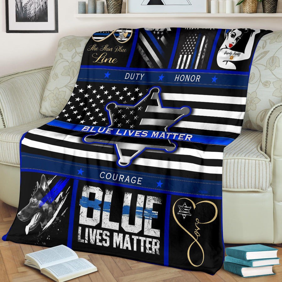 Blue Lives Matter - Premium Blanket