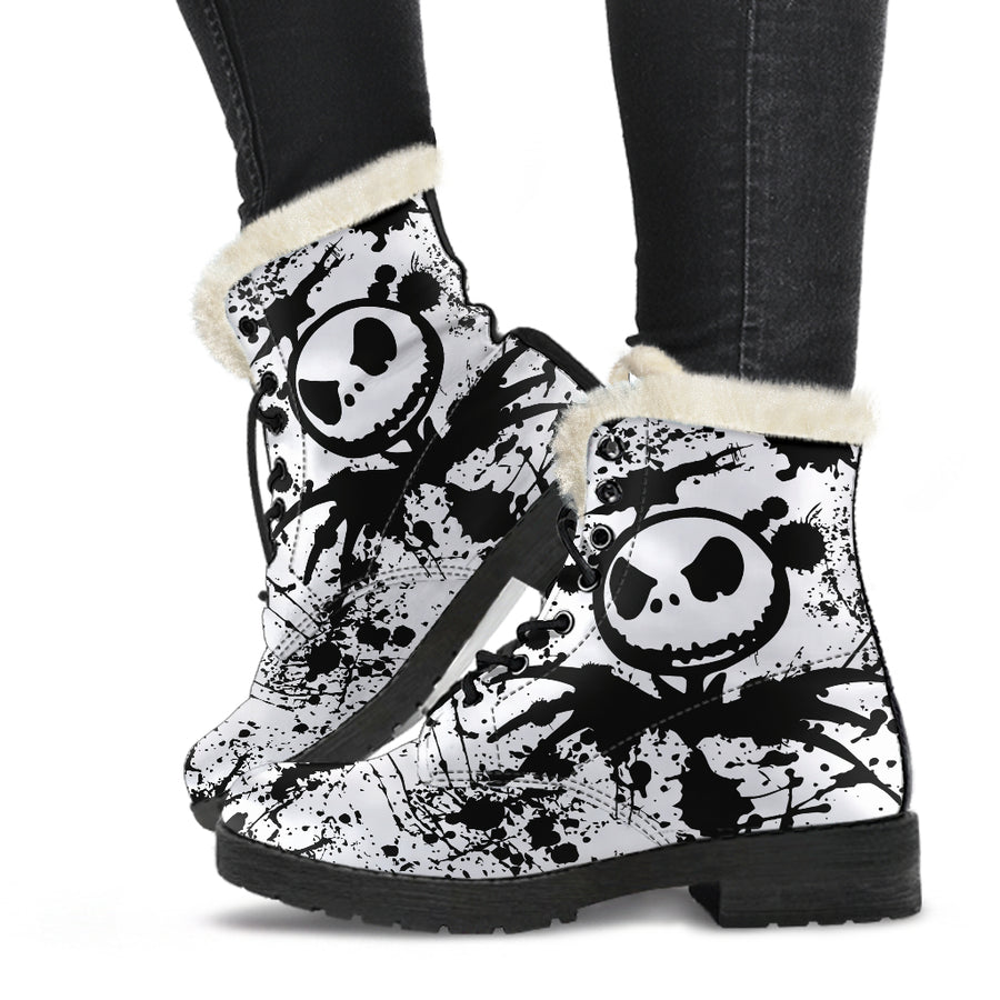 Jack Skellington - Faux Fur Leather Boots