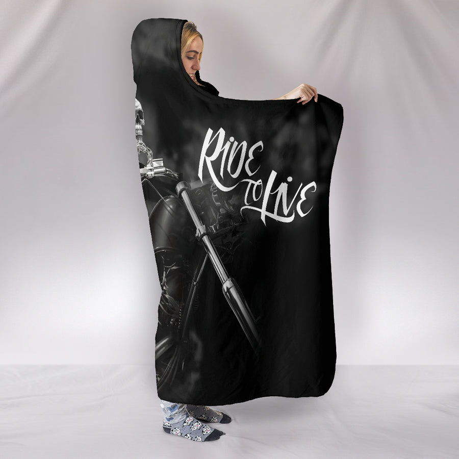 Live to Ride - Ride to Live - Hooded Blanket