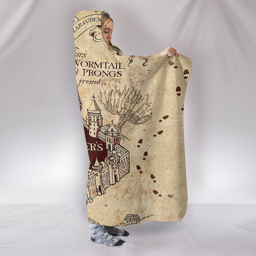 Marauder's Map - Hooded Blanket