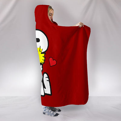 Snoopy and Woodstock - Hooded Blanket