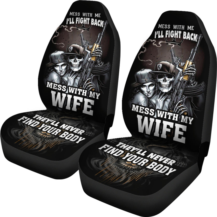 Mess With Car Seat Covers (Set of 2)